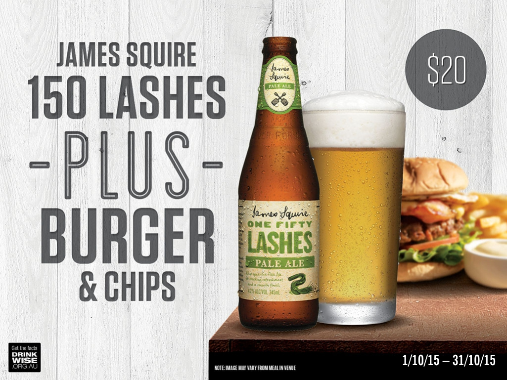 James Squire October promotion